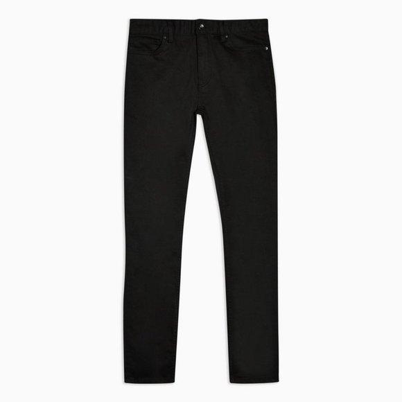 Topman Stretch Skinny Jeans Black 30L